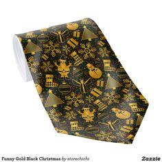 Funny Gold Black Christmas