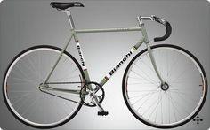 Again, Bianchi! Fixed Gear Bicycle, Gears, My Style, Inspiration, Trial Bike, Biblical Inspiration, Gear Train, Fixed Gear Bike, Motivation