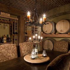 Wine Barrel Chandelier Design, Pictures, Remodel, Decor and Ideas - page 11