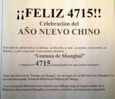 Exposición #AñoNuevoChino 4715. Entramos en un periodo de abundancia y properidad. ¿Sabéis qué significa y que importancia tiene para la población #china? Esperamos que el #AñodelGallo despierte tu espíritu aventurero, y que en esta #exposición puedas descubrir lugares, artes y costumbres maravillosas. En la #Biblioteca #JoséMorenoVilla de #Churriana se ha inaugurado una exposición en la que puedes explorar todo sobre esta cultura milenaria. #ventanadeShanghai #WindowofShanghai
