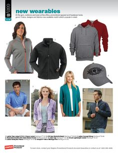 New wearables for 2012. Lots of fun textures & colors this year: bright contrast zippers, ombre, bright heathers, & linen.    http://yourbrandpartner.com/pdfs/easy8_February12.pdf