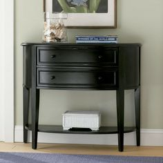 Powell Antique Black w/ Sand Through Terra Cotta Demilune Console Table - 502-515 from BEYOND Stores