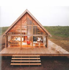 Excellent Gardening Ideas On Your Utilized Espresso Grounds Newly Constructed Prefabricated House On Block Island With Large Wrap Around Deck Photographic Print By John Zimmerman At Small Log Cabin, Tiny House Cabin, Log Cabin Homes, Tiny House Living, Tiny House Design, Barn Homes, Diy Cabin, Small Cabin Designs, Tiny House Kits