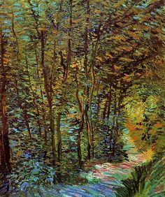 Vincent van Gogh, Camino en el bosque . París 1887 Oleo sobre lienzo