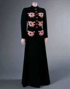 Woman's Evening Coat    Made in Paris, France, Europe  Winter 1938-39    Designed by Elsa Schiaparelli