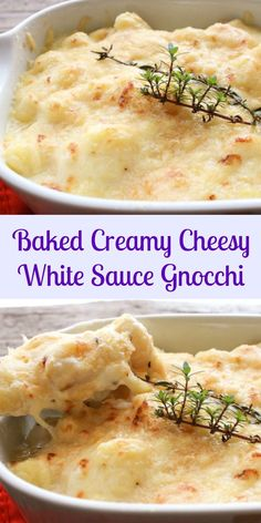 Baked Creamy Cheesy White Sauce Gnocchi, a fast, easy, delicious baked Italian pasta dish, the perfect family or guests for dinner recipe.|anitalianinmykitchen.com