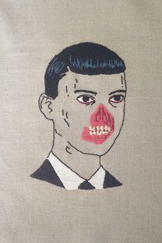 Hand embroidered Aleksandra waliszewska fan art.