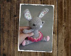 PATTERN - Little ballerina-bunny (crochet, amigurumi)