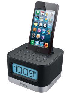 IHome alarm clock. Need a new alarm clock if anybody in my family needs ideas!