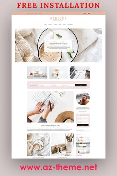 Rebecca – WordPress Blog and Shop Theme. A gorgeous WordPress theme designed with the fashionista blogger + entrepreneur in mind. Rebecca features a beautiful flexible homepage, an expansive customization panel, several custom designed pages, fully mobile responsive design, and so much more! This theme works wonderfully as a business website, blog, or mix of both. #wordpress #blog #theme