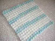 Like the look for blanket Nubby Dishcloth project on Craftsy.com Free pattern: Lion Brand Pattern #: 90404AD