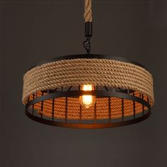 Vintage Pendant Lamp Loft Industrial Retro Creative Hemp Rope Hanging Light European style Lighting Fixture Chandelier-in Chandeliers from Lights & Lighting on Aliexpress.com | Alibaba Group