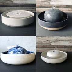 Modern Ceramic Pet Fountains by Tania Julian Ceramics hauspanther - Anita Smith Home Modern Fountain, Cat Water Fountain, Indoor Fountain, Vanitas, Ceramic Bowls, Ceramic Pottery, Black And White Vase, Ceramic Flower Pots, Design Blog