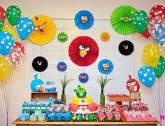 Festa super bacana e colorida com tema Angry Birds, adorei! Por @atelier_elabore #kikidsparty