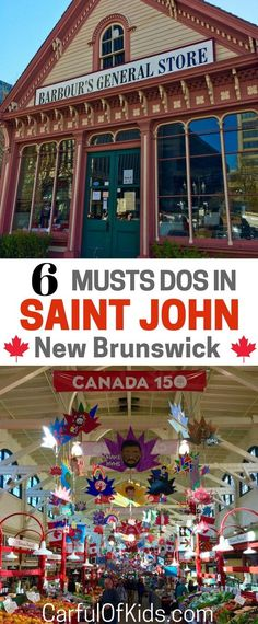 Visit Saint John, New Brunswick in Canada for the best of the Canadian Maritimes. With six top spots to discover, this is your guide. north america travel What to do in Saint John with Kids St John's Canada, Visit Canada, Saint John Canada, Saint John New Brunswick, New Brunswick Canada, Best Vacations, Vacation Trips, Vacation Ideas, Vacation Travel