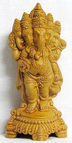 Panchamukhi (five-headed) Lord Ganesha : Terracotta Sculpture (Terracotta)