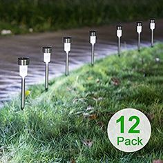 Sunnest Solar Lights Outdoor, Solar Garden Lights, Pathway Lights Outdoor, Landscape Lighting for Lawn/Patio/Yard/Walkway/Driveway(Stainless Steel) - Personal Gear Products Search