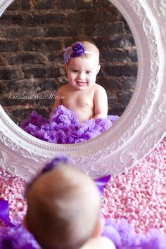 6 month baby picture ideas - Google Search Six Month Baby, Toddler Photography, Newborn Photography, Mirror Photography, Photography Ideas, Baby Pictures, Six Month Pictures, Baby Girl Photos, Pregnancy Pictures