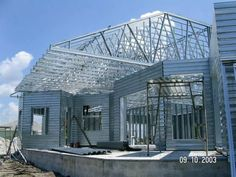 Average Cost of Metal Roof Metal Roof Cost, Metal Roof Repair, My Home Design, Home Design Decor, House Design, Metal Roof Installation, Steel Framing, Steel Trusses, Roof Styles