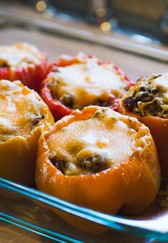 "Stuffed Peppers Recipe - One Pinner said, ""I made these for my family last night and everyone agreed, they are the BEST stuffed peppers, ever!"" Don't miss this recipe!"