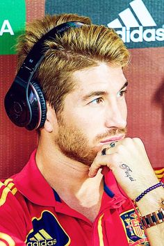 Sergio Ramos, this is the person I based my haircut off of and I'm still not there yet but soon I'll have hair like that :)