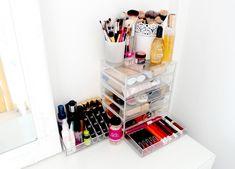 IKEA Malm Dressing Table, Makeup and Beauty Storage Ideas, Makeup Storage Inspiration, Muji Acrylic Drawers, My Dressing Table and Makeup Storage,