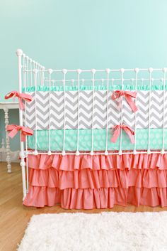 chevron+baby+bedding | Sweet Sorbet Custom Chevron Crib Bedding — Lottie Da Baby
