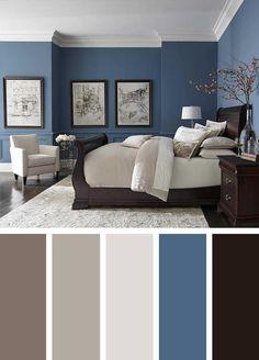 17 Beautiful Color Blue Bedroom Design neutral blue bedroom, dark b. 17 Beautiful Color Blue Bedroom Design neutral blue bedroom, dark blue bedroom, pale b Beautiful Bedroom Colors, Modern Bedroom, Home Bedroom, Master Bedrooms Decor, Modern Master Bedroom, Bedroom Sets, Bedroom Wall Colors, Bedroom Color Schemes, Master Bedroom Colors