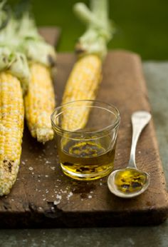 Roasted Corn with Chili Marinade. Don't forget a little Wright's Smoke for a lot of smokey flavor! #corn #vegetable #grilling | wrightsliquidsmoke.com