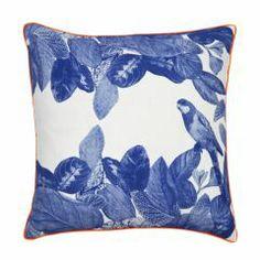 Jungle Blue Cushion - Bonnie and Neil