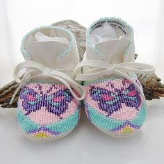 Native American Beaded Baby Moccasins by AuthenticNativeMade