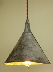 funnel + bulb: absolutely perfect for over the table in the craft room.