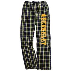 Navy//Gold Shop College Wear UC Berkeley Cal Mens Classic Flannel Pants