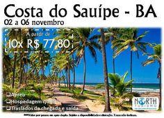 Costa do Sauípe - BA  02 a 06/nov A partir de 10x R$ 7780 por pessoa em apartamento duplo. Sujeito à disponibilidade e alteração de valores. (085) 3021-9494  whatsapp: (085) 98221-1510