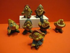 JRD SNOW WHITE & 7 DWARFS Set Walt Disney France 1939