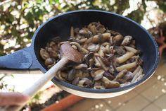Três Pontos: Pesto, Cogumelos e Espargos