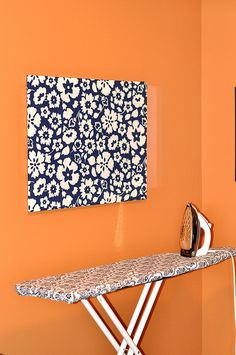 DIY Wall Decor - Big fabric panel