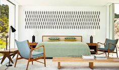 Mid Century Modern Bedroom Furniture In Rustic Style With Bench ...