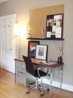 Modern walnut DIY desk