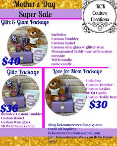 Show Mom the thought and effort you put forth this year!!!❤Get Mom a customized KCK Couture gift basket!! Don't miss out!!! Put those promo codes to use on these already great priced packages like KCK Couture Creations on all social media for more promotions and special offers share share share!!!!! #bling #customize #personalize #gift #bridetobe #summer #nikeslides #teacher  #beach #blingnike #mom #spring #teacherappreciation  #diva #girls #teacherday #teacher #teachergift…