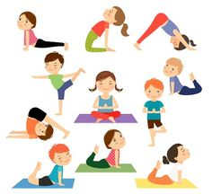 Children Obesity Yoga and more gross motor interventions to help prevent childhood obesity. Poses Yoga Enfants, Kids Yoga Poses, Yoga For Kids, Exercise For Kids, Yoga And More, How To Do Yoga, Yoga Images, Yoga Pictures, Yoga Cartoon