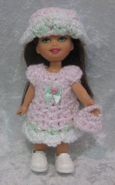 "Handmade Clothes for 6"" Kelly Dress Hat Purse Set   eBay"