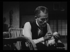 """Peeling the apple; the climax of Yasijura Ozu's great film, """"Late Spring."""" (1949)"""