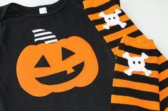 Halloween Pumpkin Black One Piece Boys  Leg Warmer by BmodDesigns, $29.00