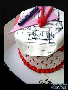 Architect cake pastel pinterest motivtorten for Innenarchitektur schulabschluss