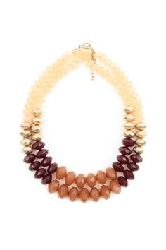 Color Block Beaded Necklaces