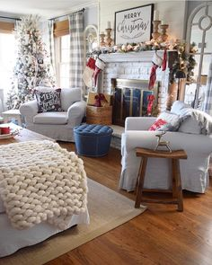 Winter living room decor can be done in many ways. The key is to create a warm and comfortable living room for the season. If you need an insight to redecorate your living room for winter, you can read our… Continue Reading → Winter Living Room, Christmas Living Rooms, Christmas Bedroom, Farmhouse Christmas Decor, Christmas Home, Christmas Design, Christmas Mantles, Christmas Villages, Christmas Trees