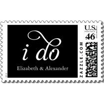 I Do Postage- Black stamps by TheKnot