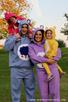 25 DIY Halloween Costumes Guaranteed To Keep You Warm (pinning this cause I would love a little flock of care bears on Halloween someday!)