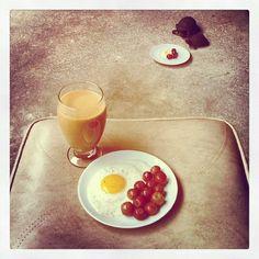Breakfast date.